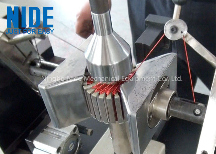 Semi - Auto Armature Coil Winding Machine For Slot Motor Wire Winding