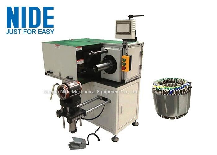 Industrial Automatic Stator Winding Lacing Machine PLC Programming Horizontal
