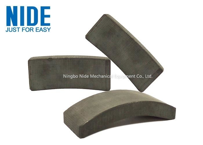 Permanent DC Motor Arc Segment Magnets / Arc Ferrite Magnets Natural Color