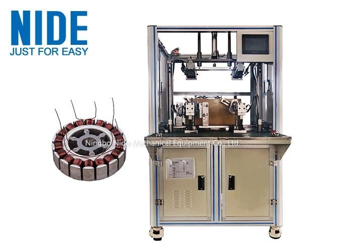 Automatic Electric motorcycle wheel motor winding machine, outslot stator coil winding machine